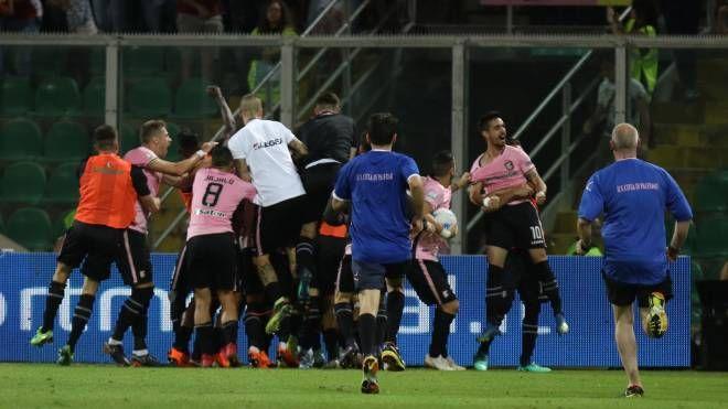 Esultanza secondo gol Palermo