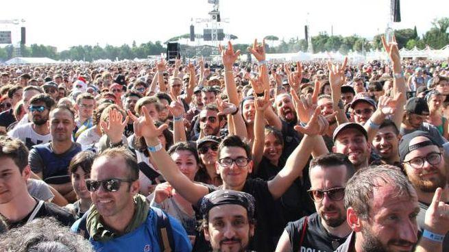 Il pubblico del Firenze Rocks (New Press Photo)
