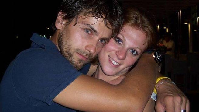 Claudio Pinti con Giovanna Gorini, la donna con cui viveva e che è morta a causa dell'Aids