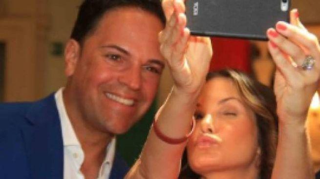 Mike Piazza con la moglie Alicia