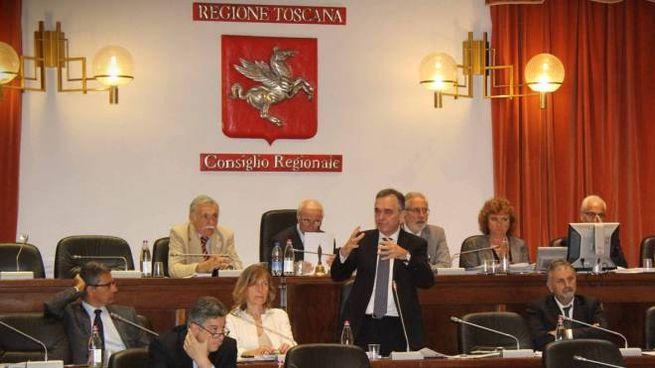 L'aula del consiglio regionale (Pressphoto)