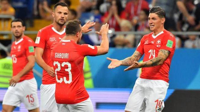 Brasile-Svizzera 1-1: il gol di Zuber (Lapresse)