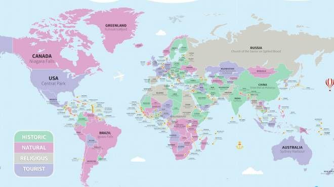 La mappa delle attrazioni globali di VoucherCloud