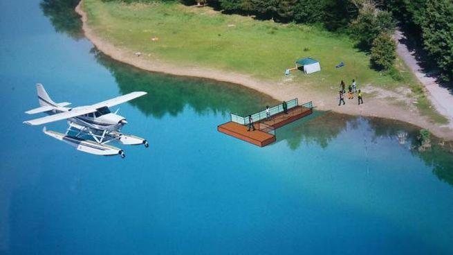 Idrovolanti sul lago di Gerosa per rilanciare il turismo