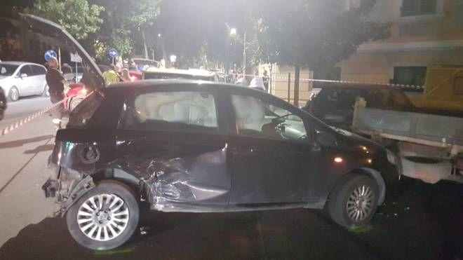 L'incidente in viale Aleardi