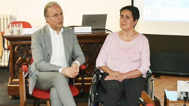Il dottor Franco Molteni e la paziente Daniela Cipelletti
