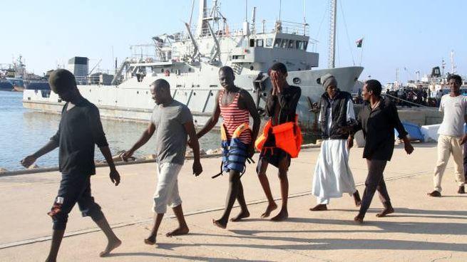 Migranti africani a Tripoli