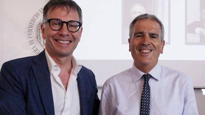 Luigi De Mossi (a sinistra) e Bruno Valentini (Foto Lazzeroni)