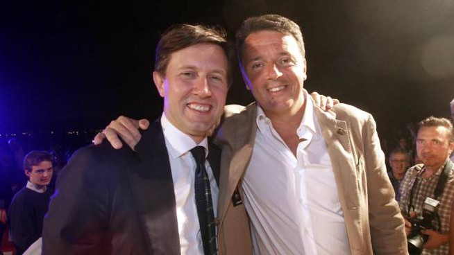 Nardella e Renzi (New Press Photo)
