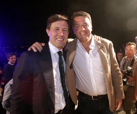 Nardella e Renzi (New Press Photo)
