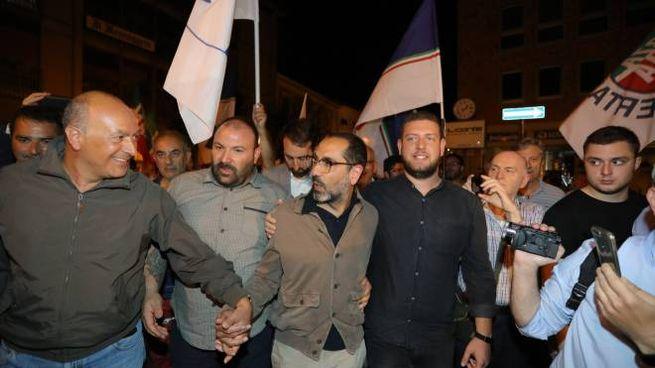 La festa per Latini sindaco (Pianetafoto)