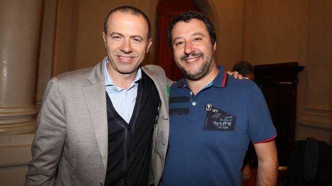 Massimiliano Romeo con Matteo Salvini