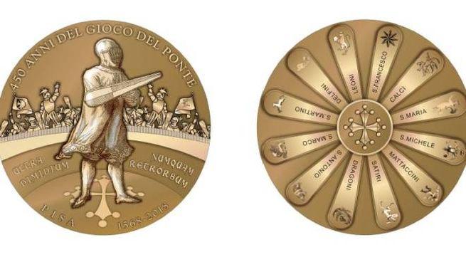La nostra medaglia per i 450 anni del Gioco del Ponte