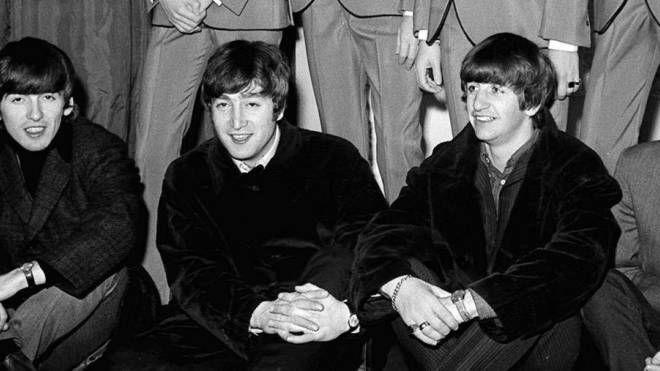 I Beatles in una foto d'epoca