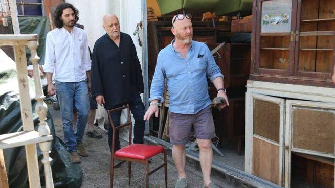 Drew Pritchard assieme a Maurizio Marzadori e Gianni Nannini nello spazio  di Freak Andò a Castel Maggiore