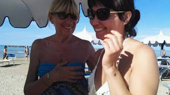 Gemma Galgani con un'ammiratrice