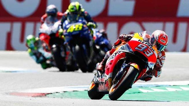 MotoGp d'Olanda a Assen. Vince Marquez (Ansa)