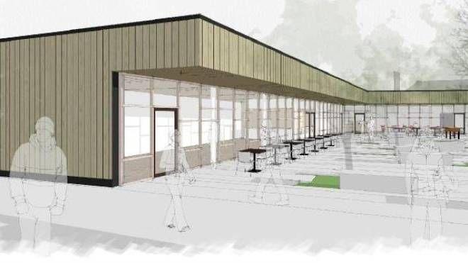 Il disegno della futura area Feste