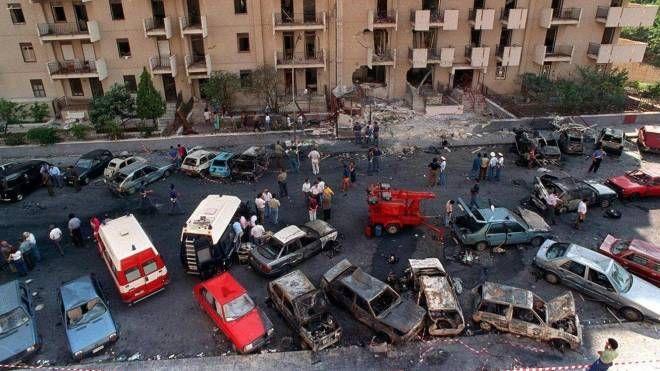 La scena dell'attentato in via D'Amelio a Palermo