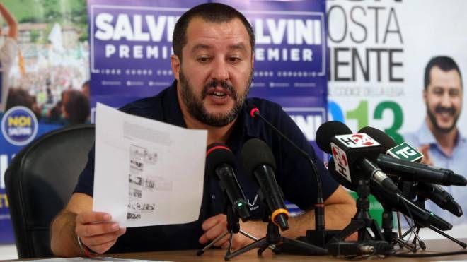 Il segretario della Lega Nord Matteo Salvini (Ansa)