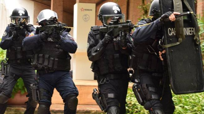 Esercitazione anti-terrorismo