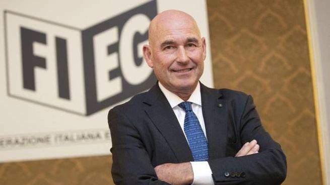 Il presidente della Fieg Andrea Riffeser Monti (Ansa)