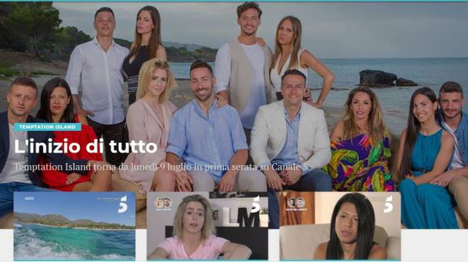 Temptation Island, un'immagine dal sito wittytv.it