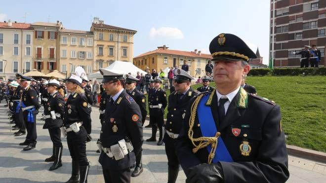 Una cerimonia dei vigili di Monza