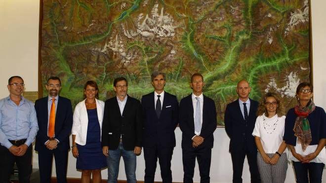 La formazione di assessori della nuova Giunta Scaramellini (Anp)