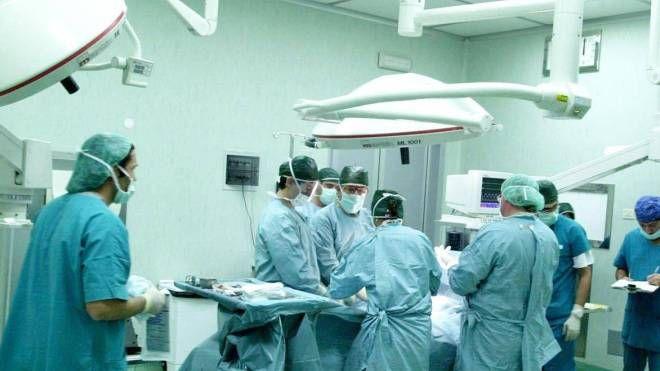 Sala operatoria trapianti di cuore al San Matteo