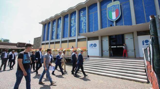 Un'immagine del Centro tecnico di Coverciano (Germogli)