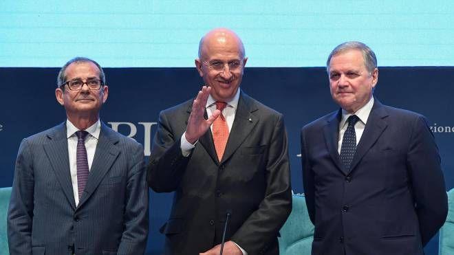 Giovanni Tria, Antonio Patuelli, Ignazio Visco