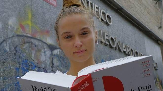Una studentessa del Leonardo Da Vinci