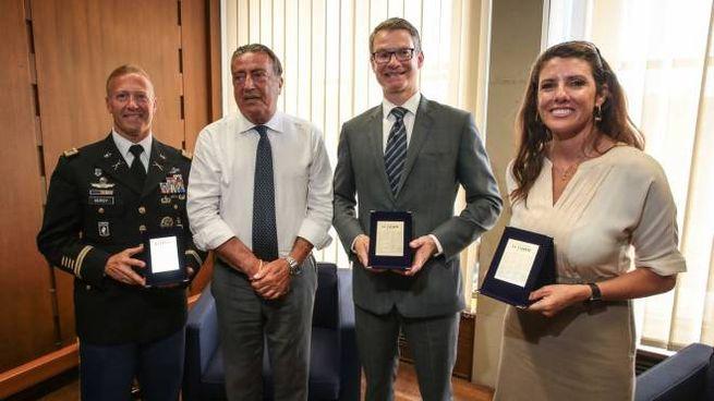 Erik Berdy, Francesco Carrassi, Benjamin Wohlauer e Catherine Miller (foto NewPressPhoto)