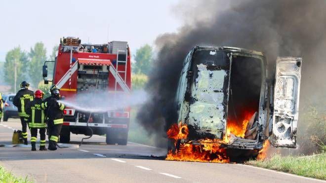 Il furgone si è incendiato (Sacchiero)