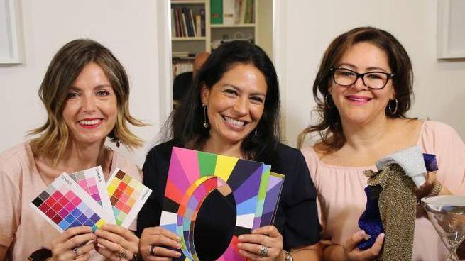 Da sinistra Linda Mattolini, Angela Carpio e Maria Isabel Vega