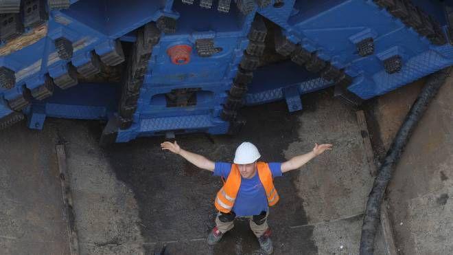 La talpa che sta scavando la nuova linea del metrò