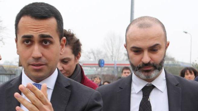 Il vicepremier Luigi Di Maio con Massimo Bugani