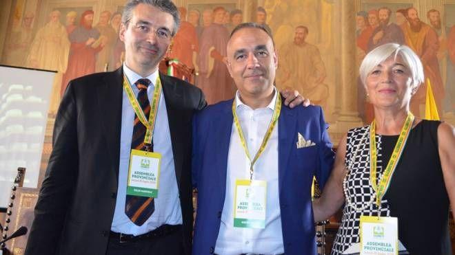 Lidia Castellucci sulla destra con Marcelli e Rossi