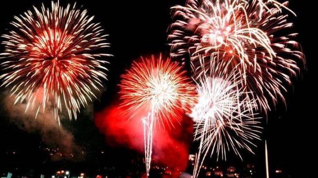 Fuochi d'artificio a Laveno Mombello
