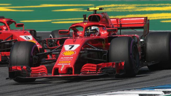 Formula 1, Sebastian Vettel al Gp di Germania 2018 (Lapresse)