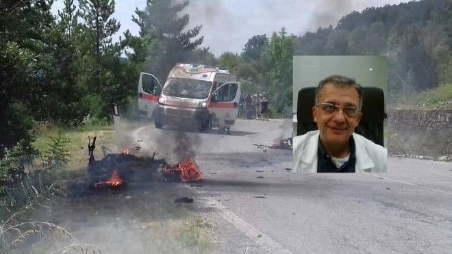 La vittima e la scena dell'incidente
