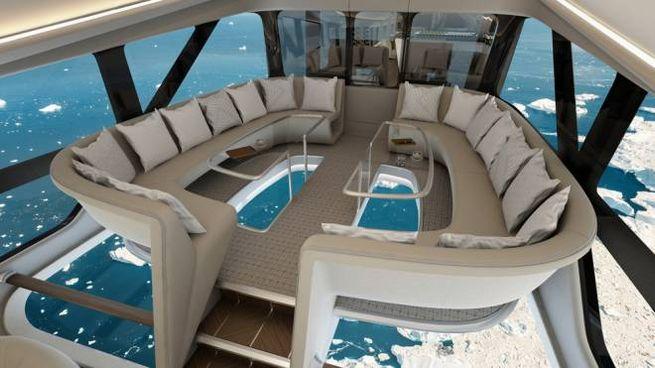 Gli interni del dirigibile di lusso Airlander 10 - Foto: www.hybridairvehicles.com