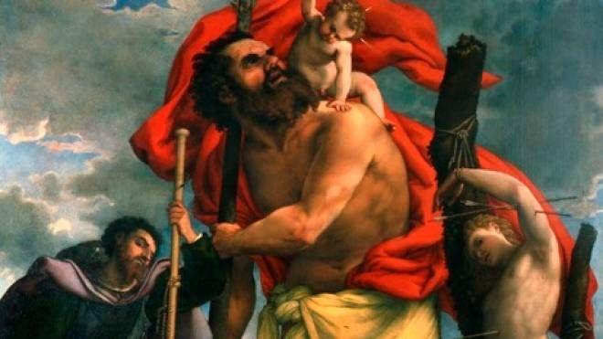 CAPOLAVORO Particolare della pala di Lorenzo Lotto