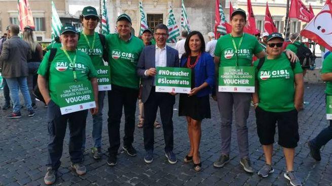 La delegazione a Roma