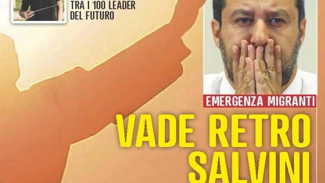 La copertina di Famiglia Cristiana con Matteo Salvini