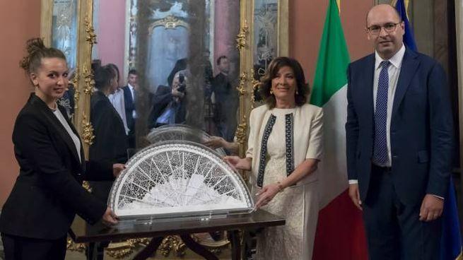 Beatrice Borellini con Maria Elisabetta Alberti Casellati