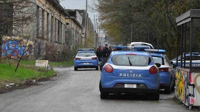La polizia nell'area delle ex Reggiane