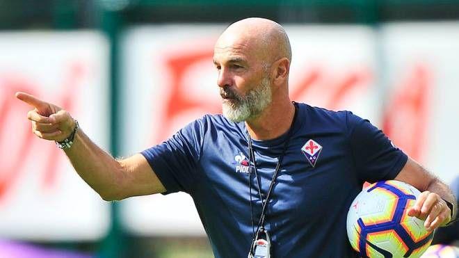 L'allenatore della Fiorentina, Stefano Pioli (Germogli/Morini)