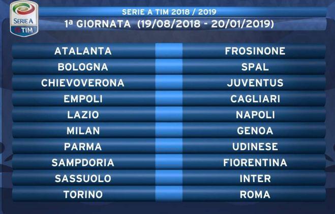 Calendario Serie A 1 Giornata.Calendario Serie A 2018 19 Ronaldo Debutta A Verona Tutte